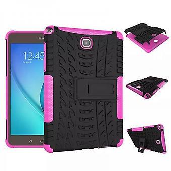 Υβριδική εξωτερική προστατευτική θήκη περίπτωση ροζ για την καρτέλα Samsung Galaxy A 9,7 T550 T555 υπόθεση