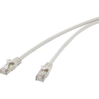 Renkforce RF-4259499 RJ45 Network cable, patch cable CAT 5e F/UTP 10.00 m Grey incl. detent 1 pc(s)