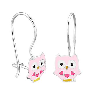 Owl - 925 Sterling Silver Earrings - W28656x