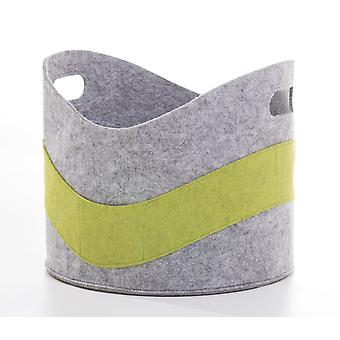 Firewood basket felt fireplace wood bag grey green felt basket bag paper basket magazine rack toy box
