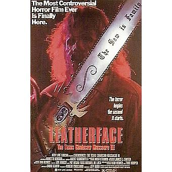 Texas Chainsaw Massacre 3 poster leather face