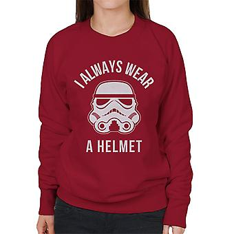Original Stormtrooper I Always Wear A Helmet Women's Sweatshirt