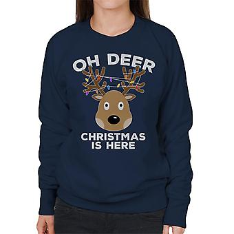 Oi Deer joulu on täällä Naisten huppari