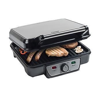 Bestron ASW318 rustfrit stål kontakt grill