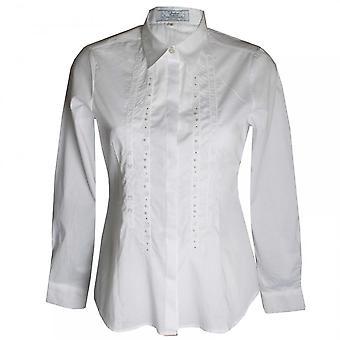 Vlt's By Valentina's Women's White Stretch Cotton Shirt