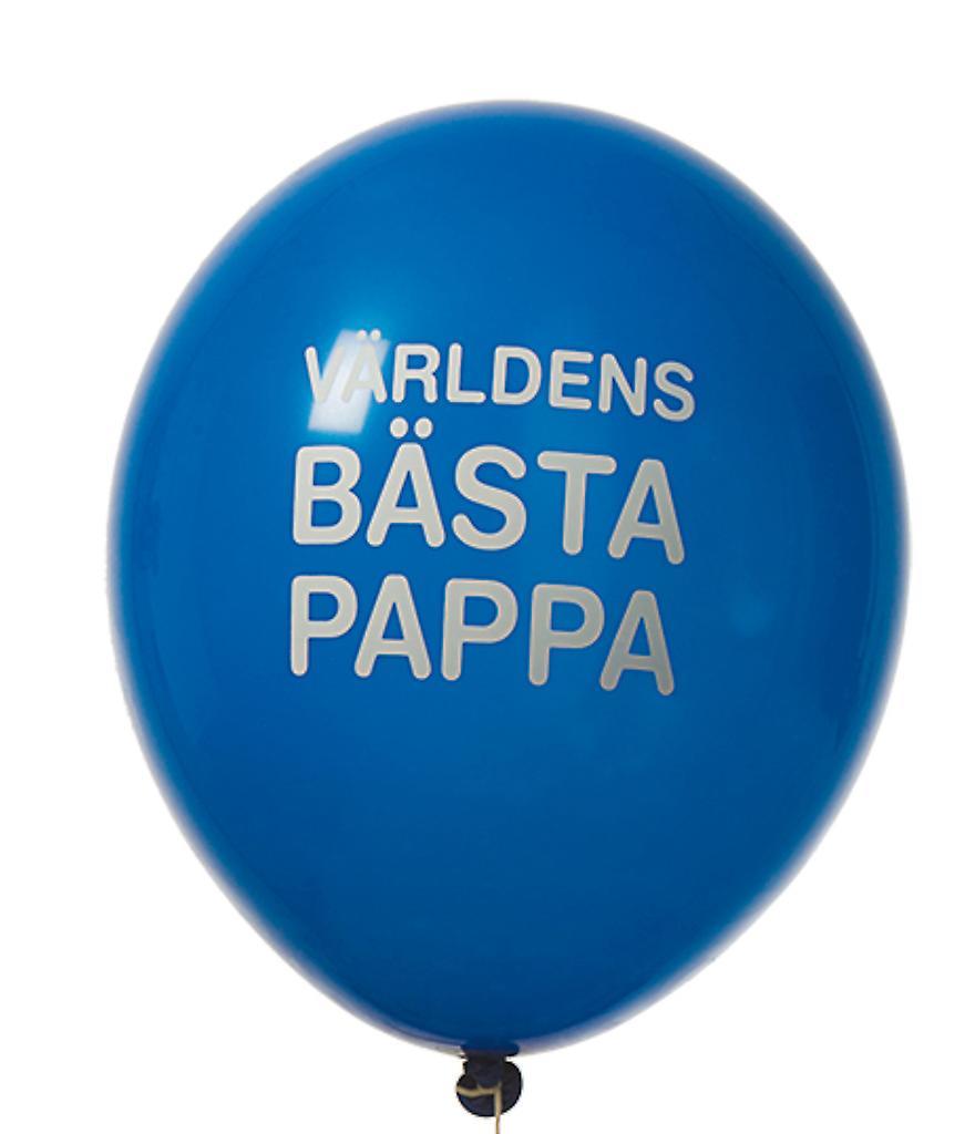 Världens Bästa Pappa - Ballonger 8-pack - 12