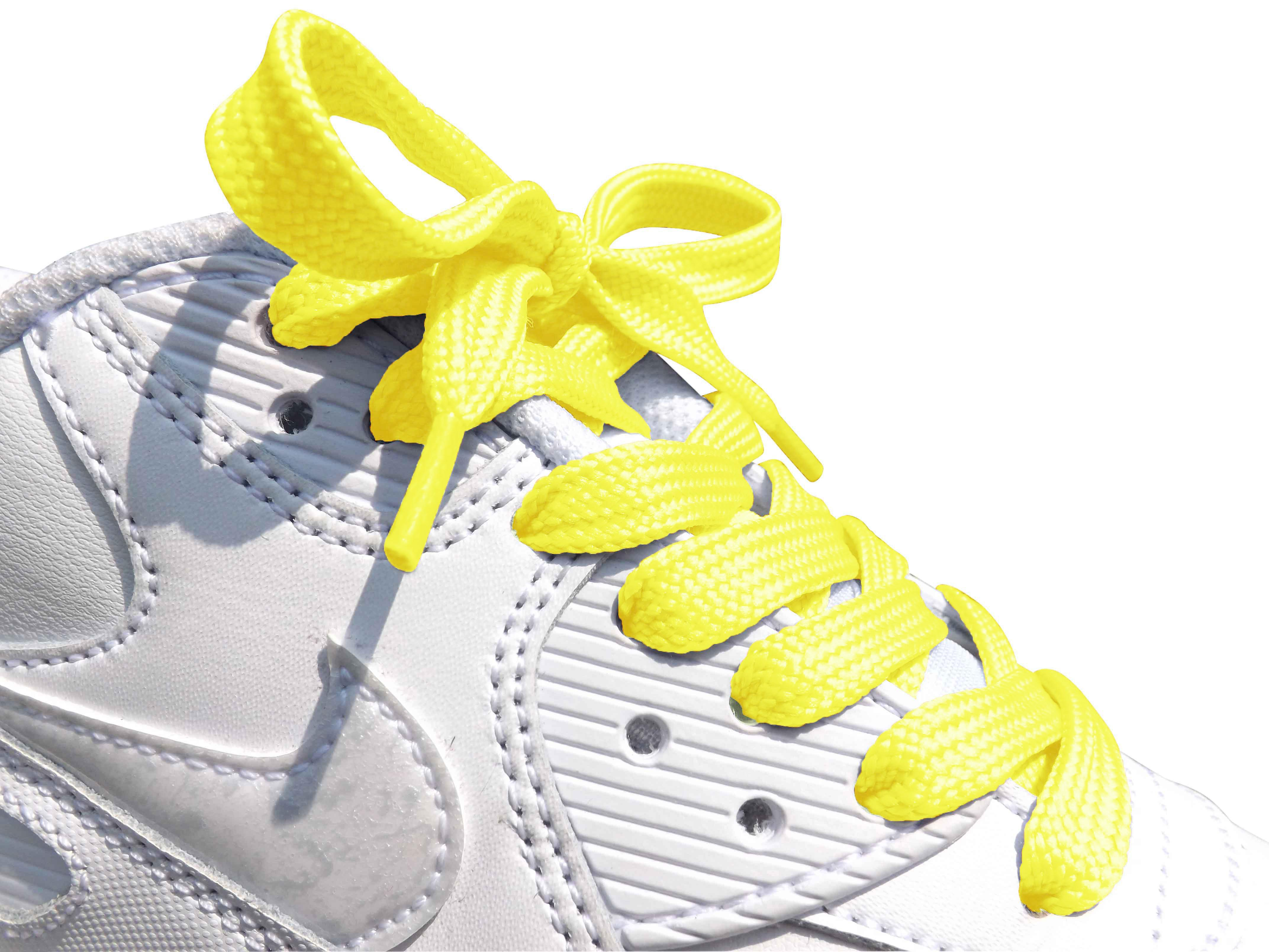 Yellow Flat Trainer Laces