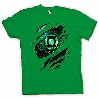 Kinder T-shirt - das grüne Laterne - Superhero Riss Design