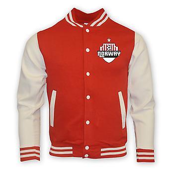 Norwegen College Baseball Jacket (rot)