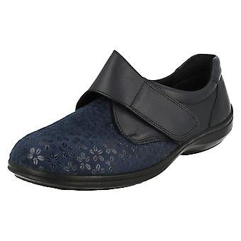 Ladies Easy B Casual Fastened Shoes Flora