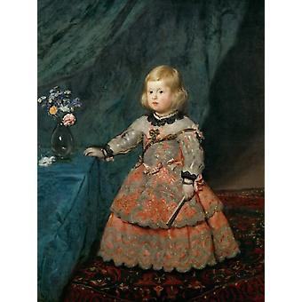 Infantin Margarita Teresa im rosa Kleid, Diego Velazquez, 50x38cm