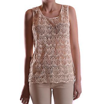 Liu Jo Ezbc086161 Women's Beige Cotton Top