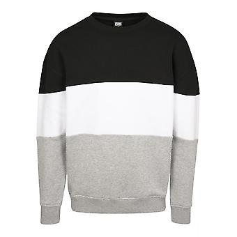 Urban Classics Herren Sweatshirt 3-Tone Oversize