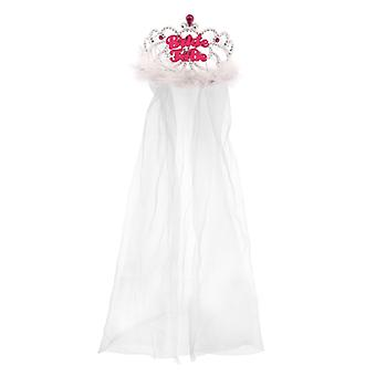Bride to Be Tiara with attached Veil