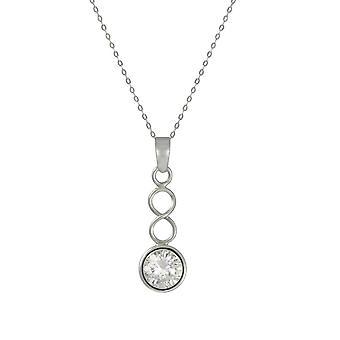 Evig samling April Cubic Zirconia Birthstone Sterling sølv anheng