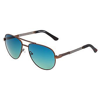 Raça Leo Titanium polarizada óculos de sol-Brown/azul-verde