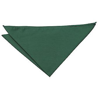 Emerald Green Plain Shantung Pocket Square