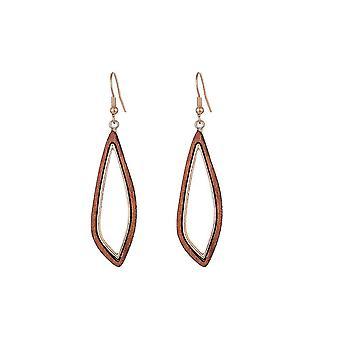 Jewelcity Sunkissed Womens/Ladies Wood Disc Earrings
