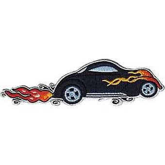 Patch - Automoblies - Blue Hot Rod with Flames Iron On Gifts New Licensed p-3737