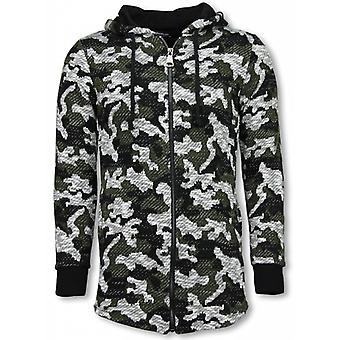 Army Vest Camouflage-Long Fit Sweatshirt-Green