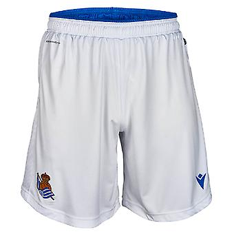 2019-2020 Real Sociedad Macron Home Shorts (White)