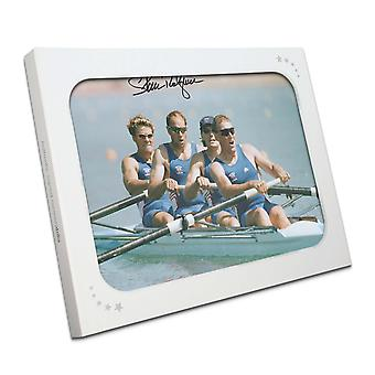 Sir Steve Redgrave Signed Olympics Rowing Photo: The Winning Team. In Gift Box