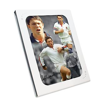 Rory Underwood Signed England Montage In Gift Box