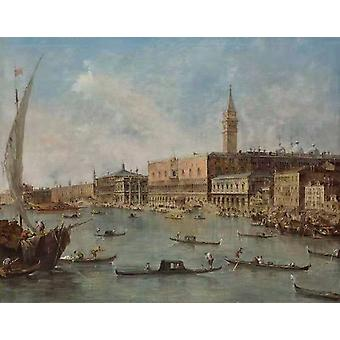 The Doge-s Palace and the Molo from the,Francesco Guardi,50x40cm