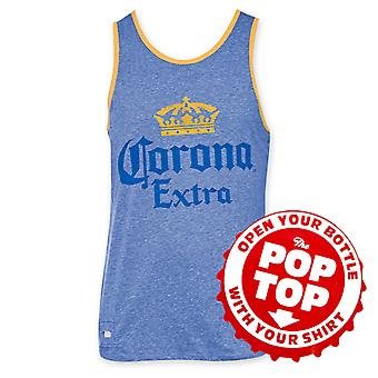 Corona Extra Men's Blue Pop Top Bottle Opener Tank Top