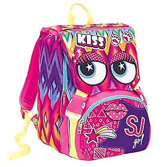 Extensive Backpack Big - Faces from SJ - 28 Lt - Pink - Dual - School & Leisure