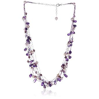 Kit Heath 90GEAM - Women's chain with amethyst - silver sterling 925 - 460 mm