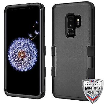 MYBAT natuurlijke zwart/zwart TUFF Hybrid Phone Protector cover voor Galaxy S9 plus