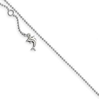 925 Sterling Silver Hollow kiillotettu Dolphin Nilkkakoru 10 tuuman kevätrengas korut lahjat naisille
