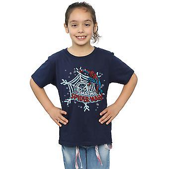 Marvel Girls Spider-Man Christmas T-Shirt