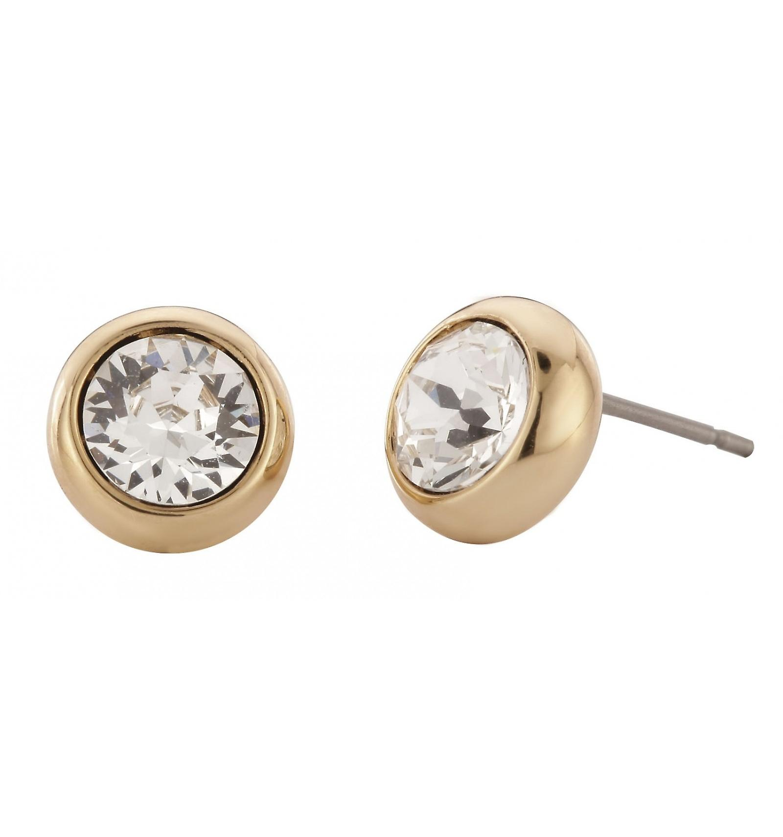 Traveller pierced earring - 22ct gold plated - 145041