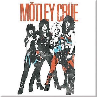 Motley Crue Kühlschrank Magnet Vintage World Tour Band Logo neue offizielle weiß