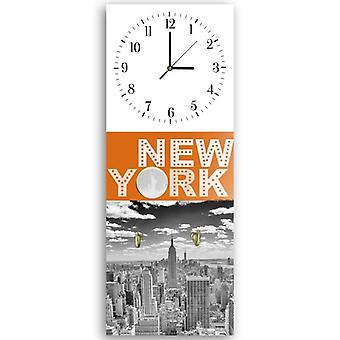 Decorative clock with hanger, New York 2