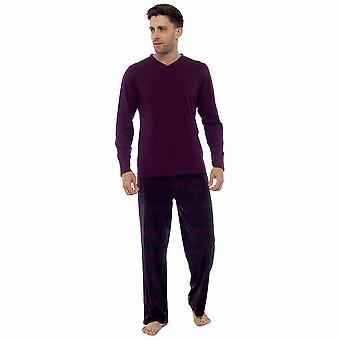 Mens Jersey Top & polar Fleece Bottoms loungewear pijamas