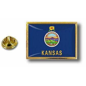 Kiefer Pines Abzeichen Pin-Apos;s Metall mit Schmetterling Pinsel Flagge USA Kansas