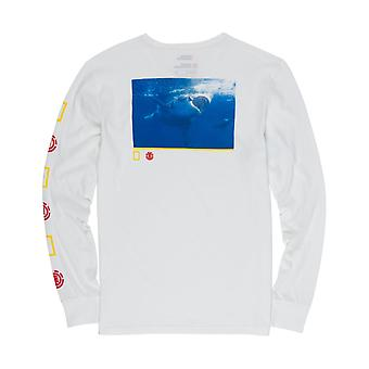 Element Current Long Sleeve T-Shirt in Off White