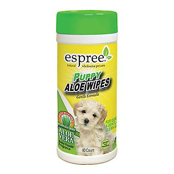 Espree Puppy Aloe Wipes - For Quick & Gentle Clean Up - Pack of 50