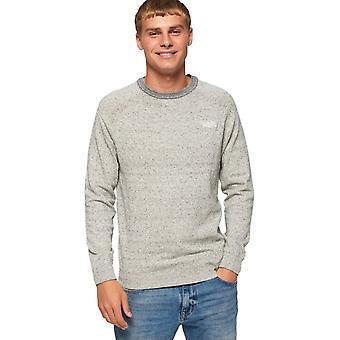 Superdry Orange Label Cotton Knit Jumper Grey 06