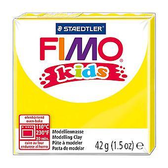 Fimo Kids modelagem argila, amarelo, 42 g