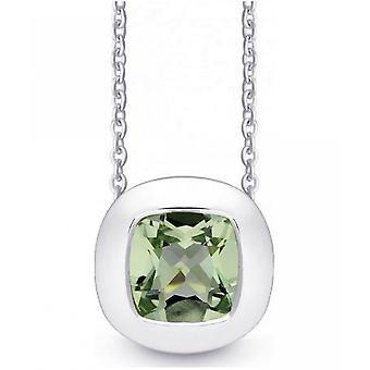 QUINN - Necklace - Women -Silver 925 - Gemstone - Prasiolite - 27250935