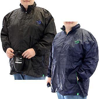 Duke D555 mens Zac grote Tall Packaway weer bewijs regen Hooded Jacket vacht top