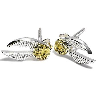 Harry Potter Sterling Silber Ohrringe Golden Snitch