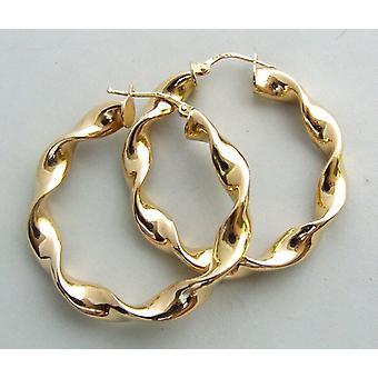 14 carat Christian yellow gold earrings
