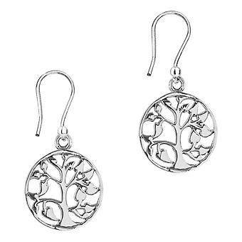 Celtic Mother Earth Tree Of Life Round Drop Style Pair Of Earrings