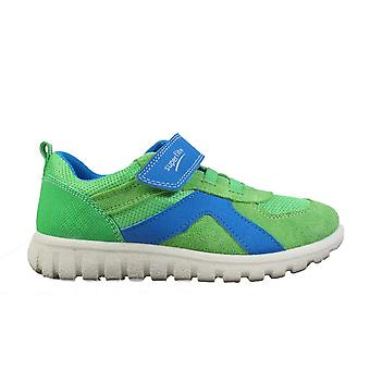 Superfit 09192-70 Green Suede Leather Boys Rip Tape Trainer Shoes