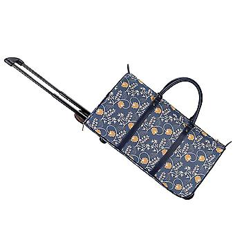 Jane austen Blue travel pull holdall by signare tapestry/Pull-aust